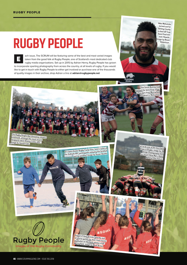 Rugby People page 46 from Scrum Magazine 106